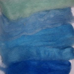 Carded Mohair Blue Mix