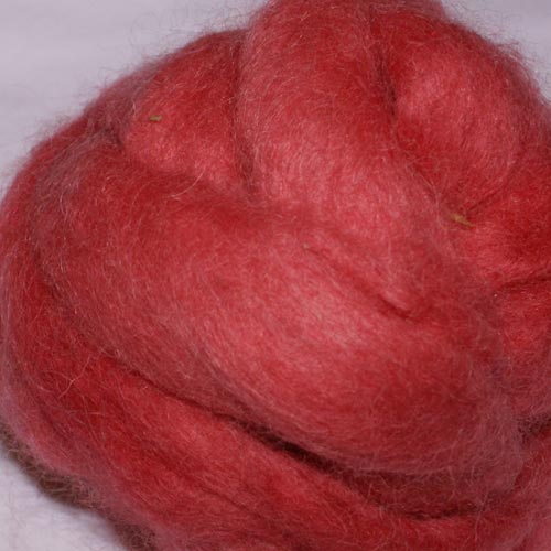 Carded Mohair Red